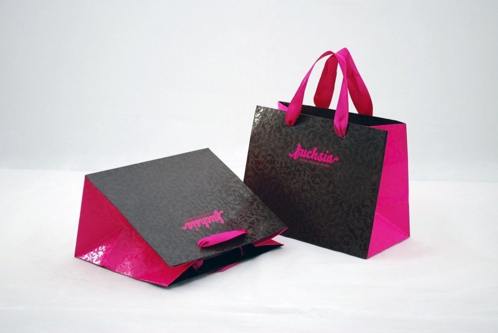 Custom Eurotote Bags with Ribbon Handles and UV Printing