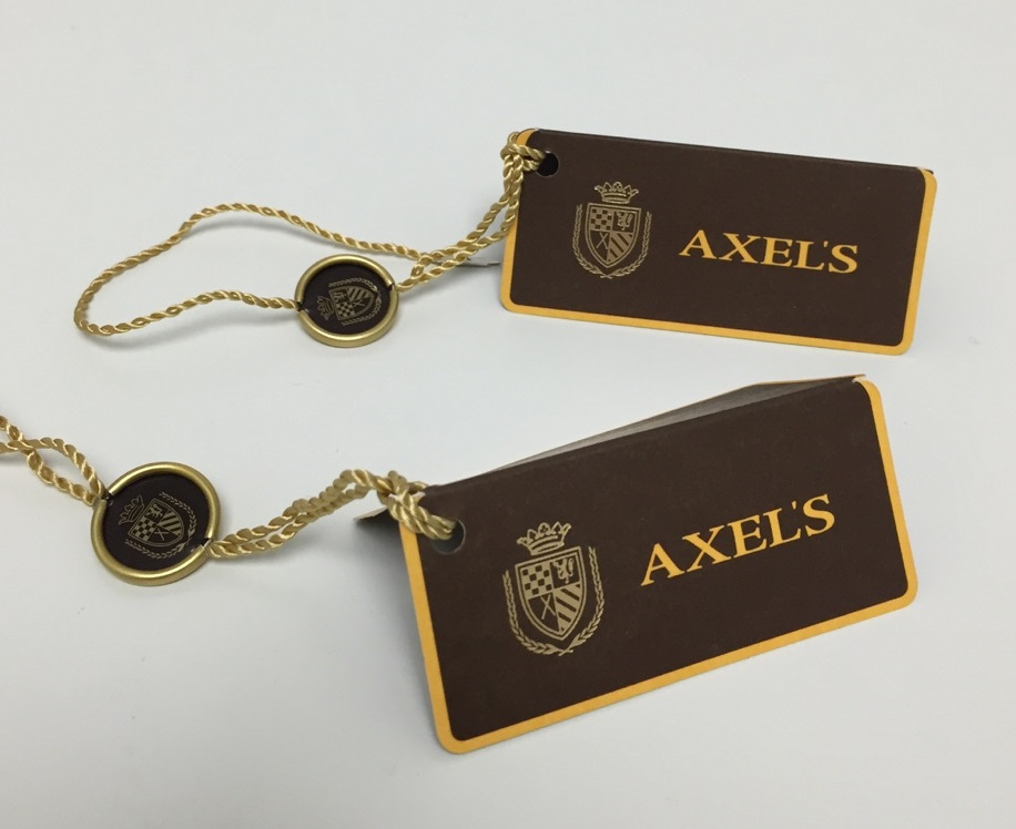 Custom hangtags for luxury retail