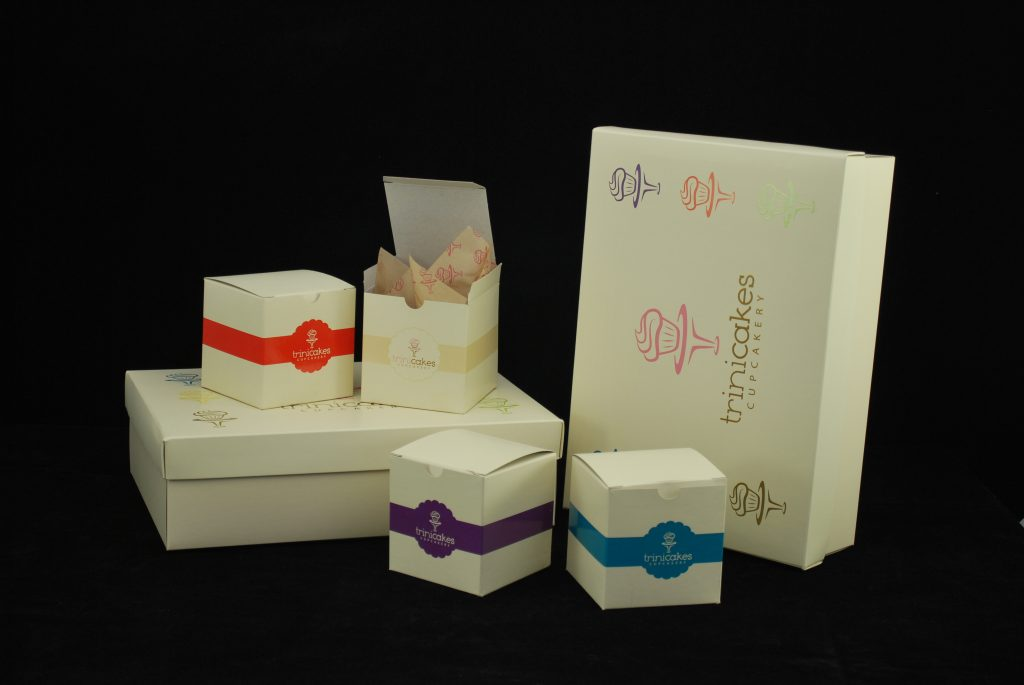 Custom bakery boxes for cakes, cupcakes, pies