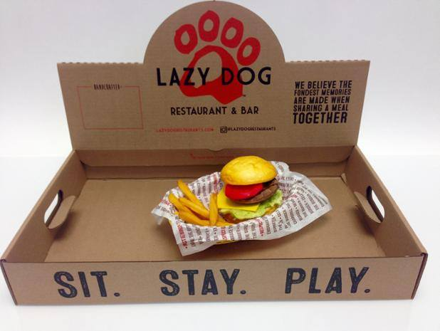 Custom printed kraft catering tray