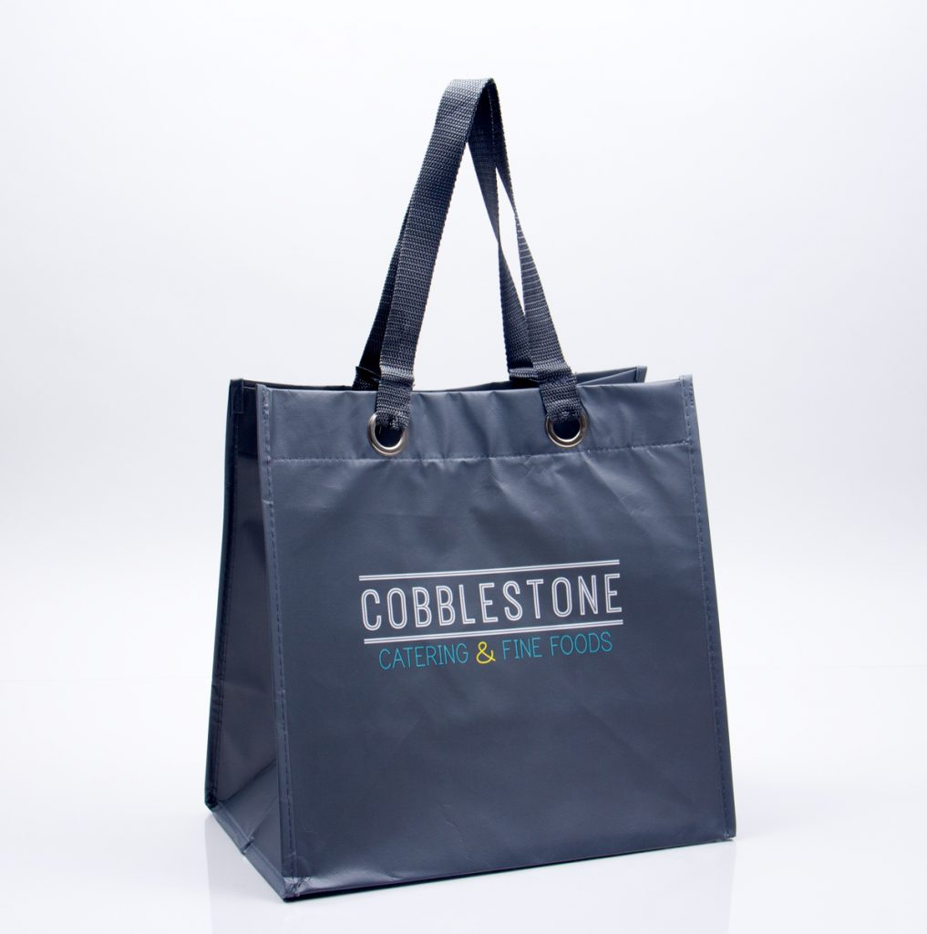 Custom printed catering reusable tote bag