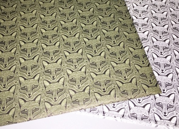 Repeating Fox Pattern Custom Tissue Paper