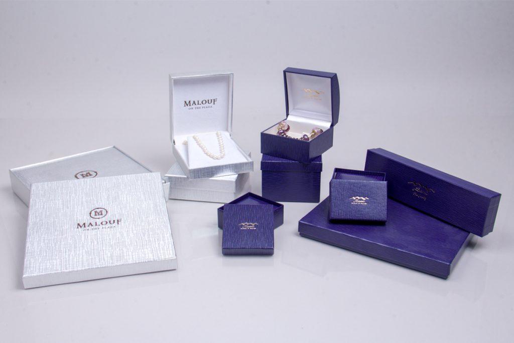 Beautiful custom designed jewelry boxes